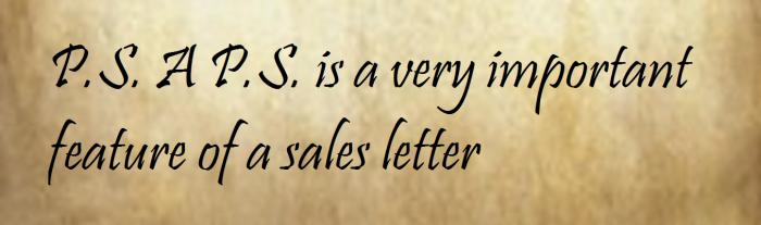 P.S. Sales Letters